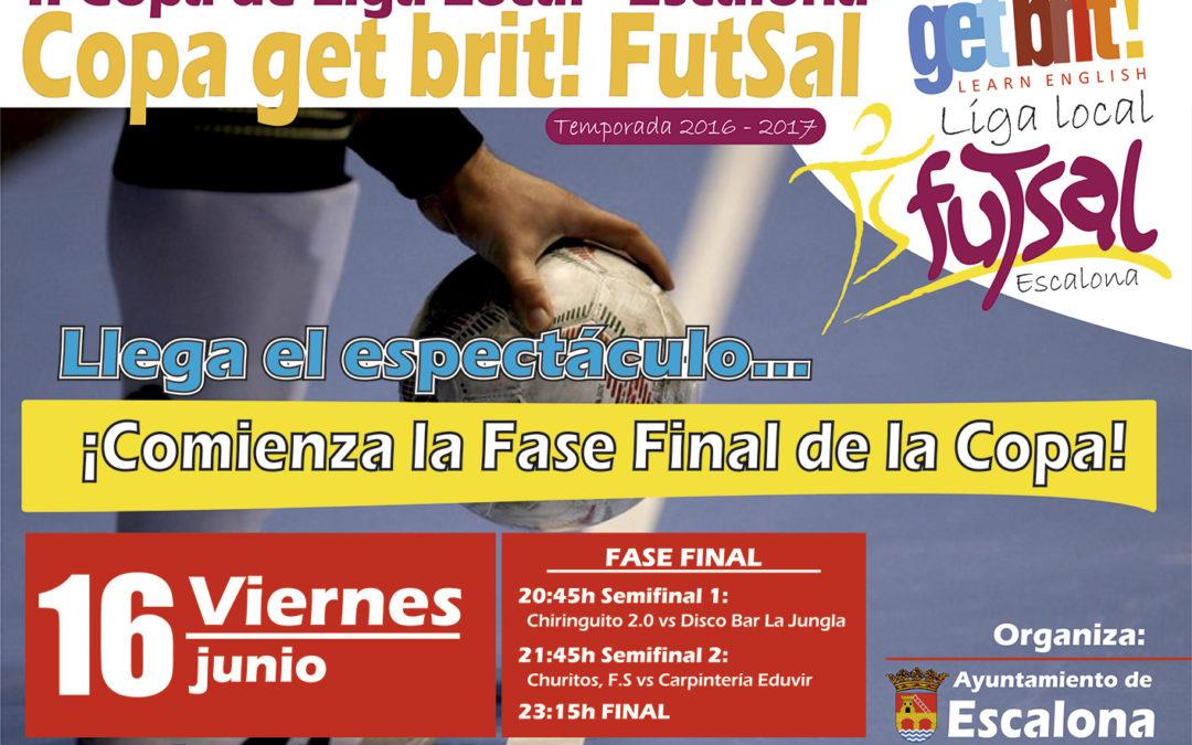 ¡Este viernes llega el espectáculo! Bienvenidos a la Fase Final de la II Copa getbrit! de Fútbol Sala