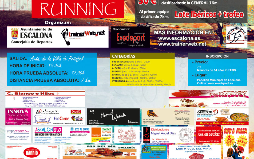 II Carrera Popular Escalona Running 2016