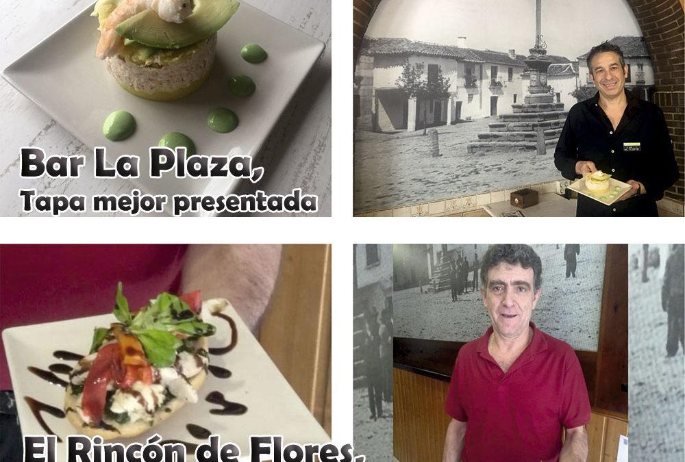 El Rincón de Flores y Bar La Plaza han resultado ganadores de la mejor tapa y tapa mejor presentada respectivamente en la III Ruta de la Tapa
