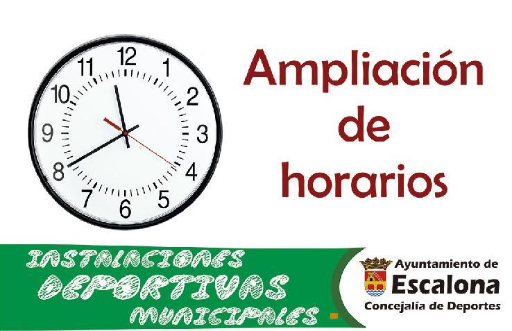Ampliación de horarios de las instalaciones deportivas municipales