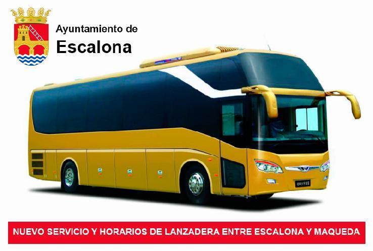 Nuevo Servicio y Horarios de Lanzadera entre Escalona y Maqueda