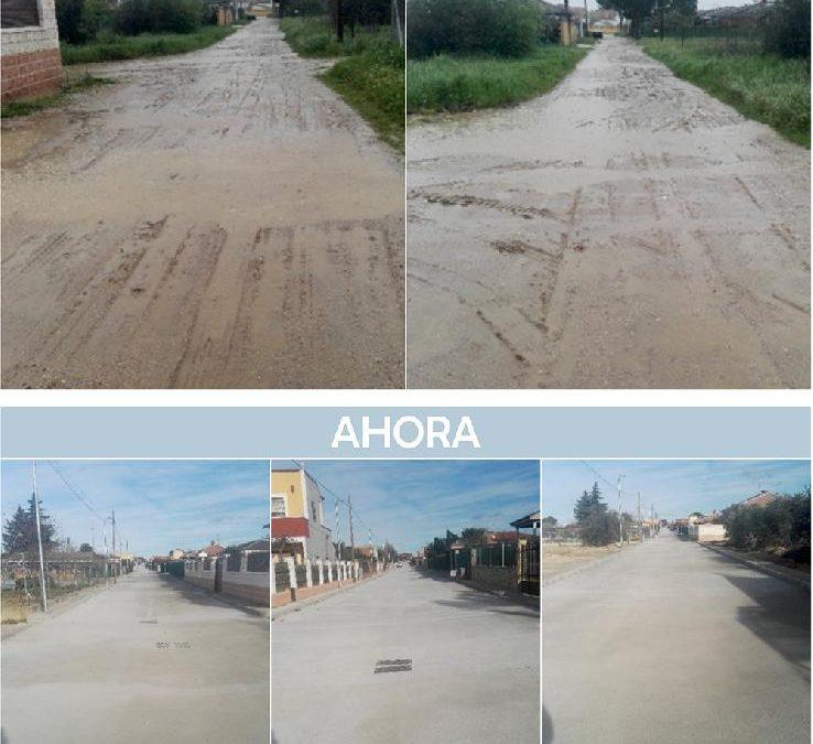 Terminadas las obras de pavimentación de la calle Carpio de Tajo