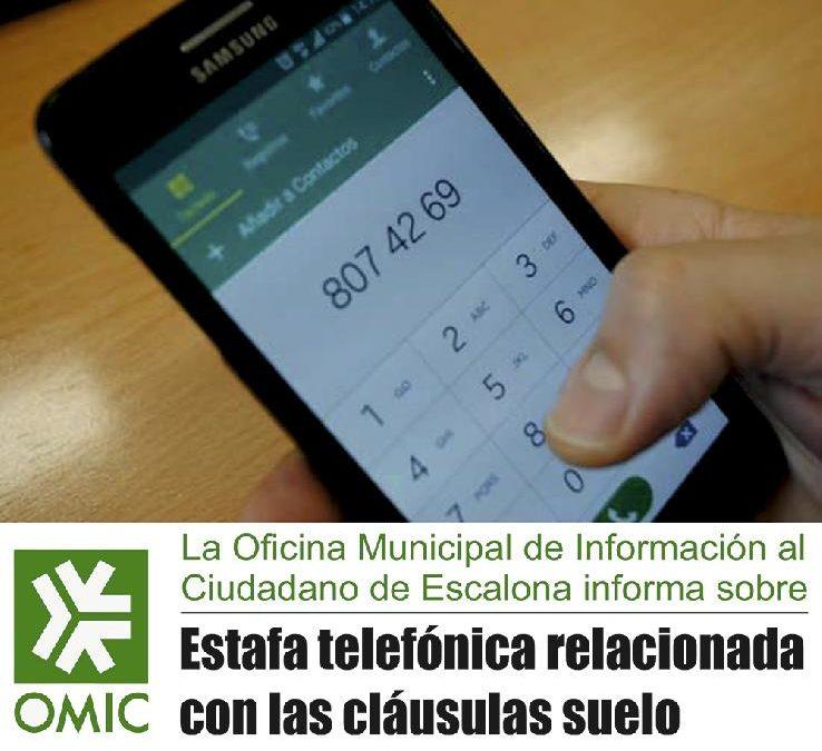 Alerta de estafa telefónica relacionada con las clausulas suelo