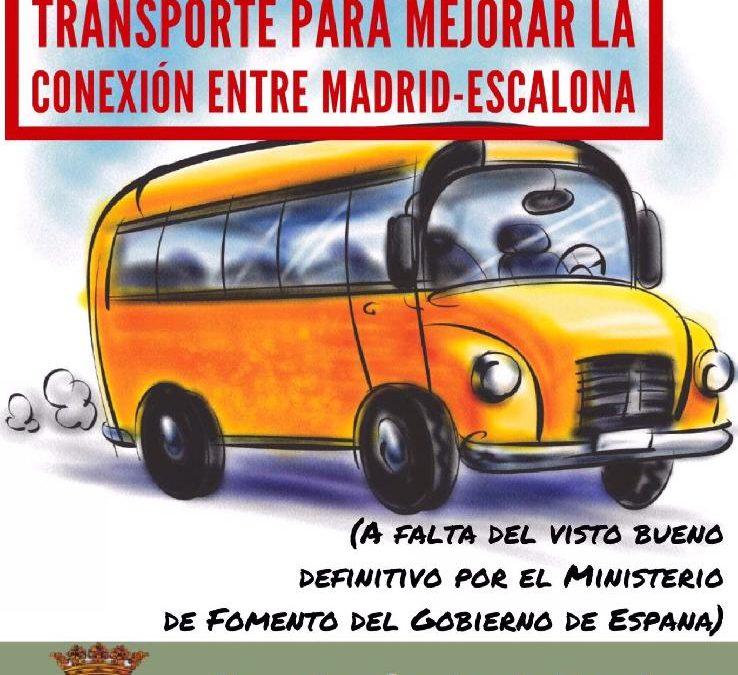 Mejoras en las comunicaciones de transporte de viajeros: Madrid-Escalona y Escalona-Madrid