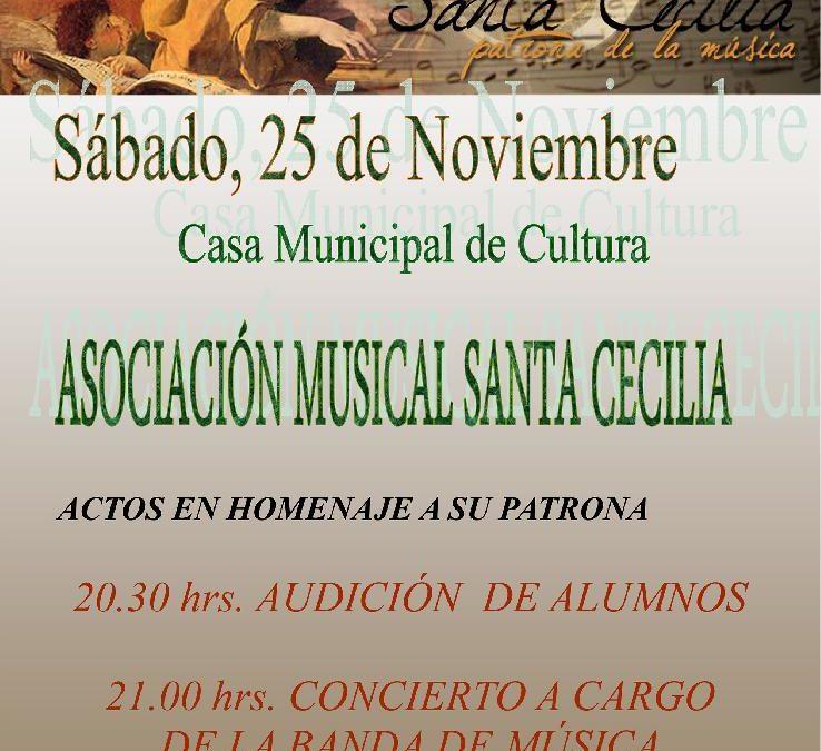 Concierto de la Asociación Musical Santa Cecilia con motivo de la festividad de su Patrona