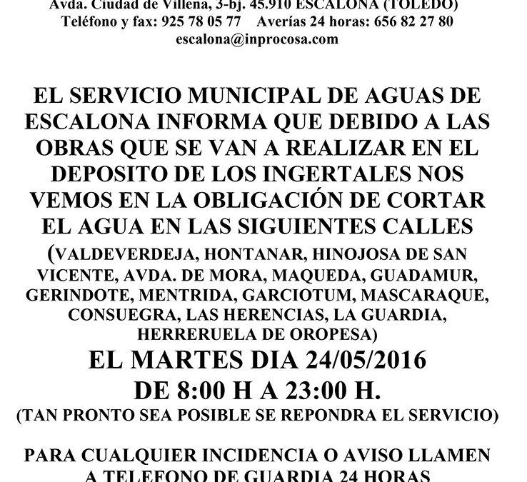 El Servicio Municipal de Aguas informa