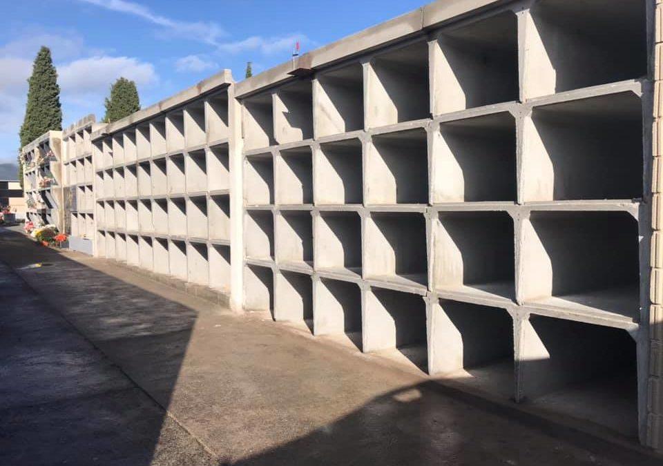 El Ayuntamiento de Escalona cumple con su compromiso de ampliar los nichos del cementerio municipal para la próxima década