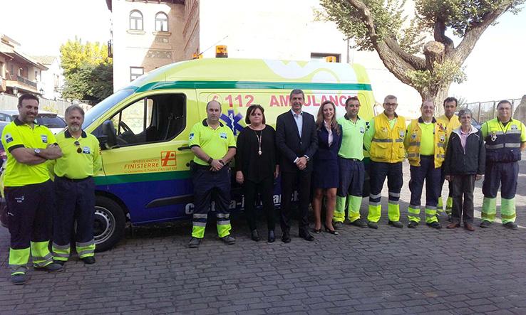 Mejora en los servicios sanitarios: Escalona cuenta con una nueva ambulancia de urgencias