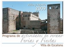 Programa de Ferias y Fiestas Verano 2009 - Ayuntamiento de Escalona