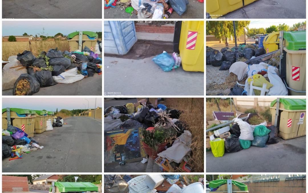 Los residuos de los incívicos, una imagen lamentable