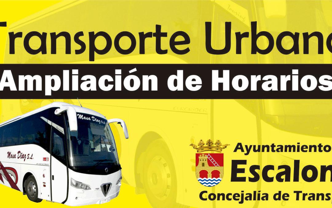 El Ayuntamiento de Escalona amplía el Servicio de Transporte Urbano