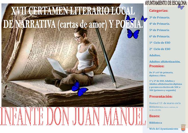 El Ayuntamiento de Escalona pone en marcha el XVII Certamen Literario