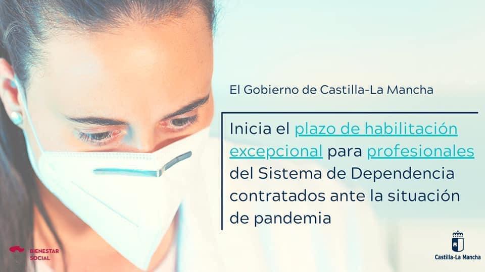 Plazo de habilitación para profesionales del sistema de dependencia contratados ante la situación de pandemia