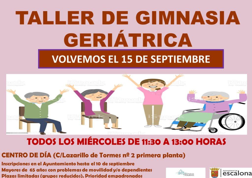 """taller gimnasia geriátrica 2021-2022 - Proyecto mayores """"mente activa, cuerpo activo"""" - Ayuntamiento de Escalona"""