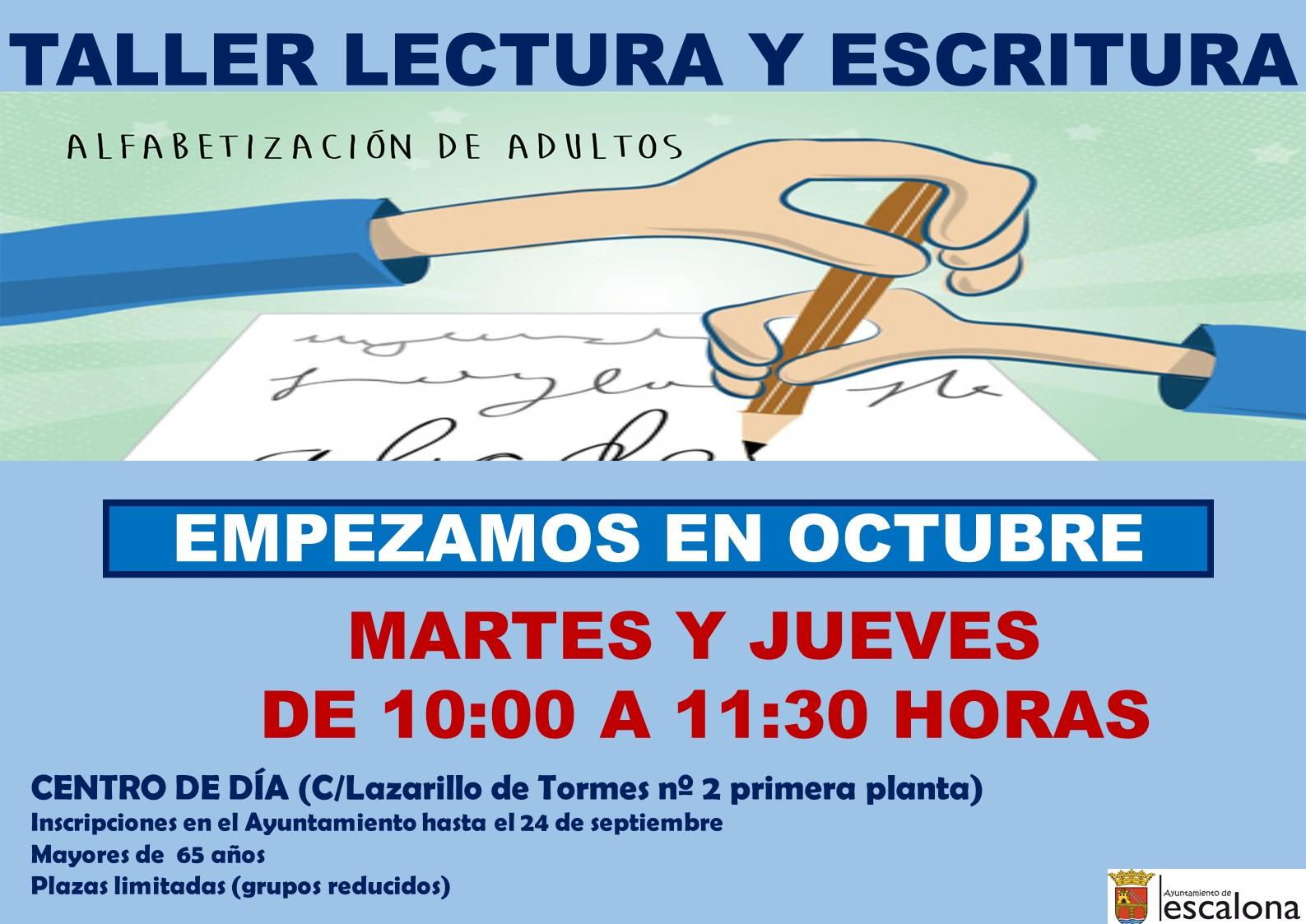 Taller alfabetización 2021-2022 - Ayuntamiento de Escalona